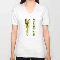 poison ivy V-neck T-shirts featuring Poison Ivy by Lily's Factory