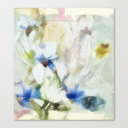 Garden Flowers Painting 00 Canvas Print