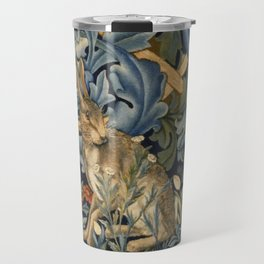 William Morris Forest Rabbit Floral Art Nouveau  Travel Mug