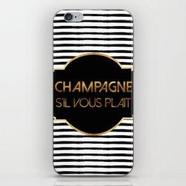 Champagne S'il Vous Plait iPhone Skin
