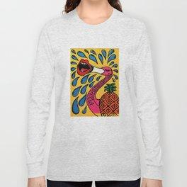 Fresh Pineapples - Pop Art Vaporwave Dream Pop Design Long Sleeve T-shirt