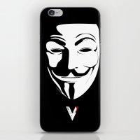vendetta iPhone & iPod Skins featuring Vendetta by The Vector Studio