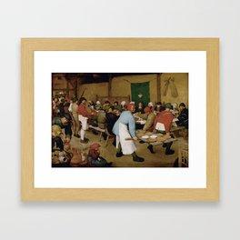 Peasant Wedding by Pieter Bruegel the Elder Framed Art Print