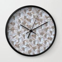 Axonometric Stone Collage - Coarse Grain Wall Clock