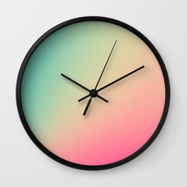Gradient Colours: Turquoise Pink Pastel Wall Clock