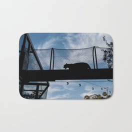 Silhouette of a Medium Sized Cat Bath Mat