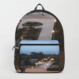 Chicago, Across the Park to Lake Michigan, Sunset Backpack