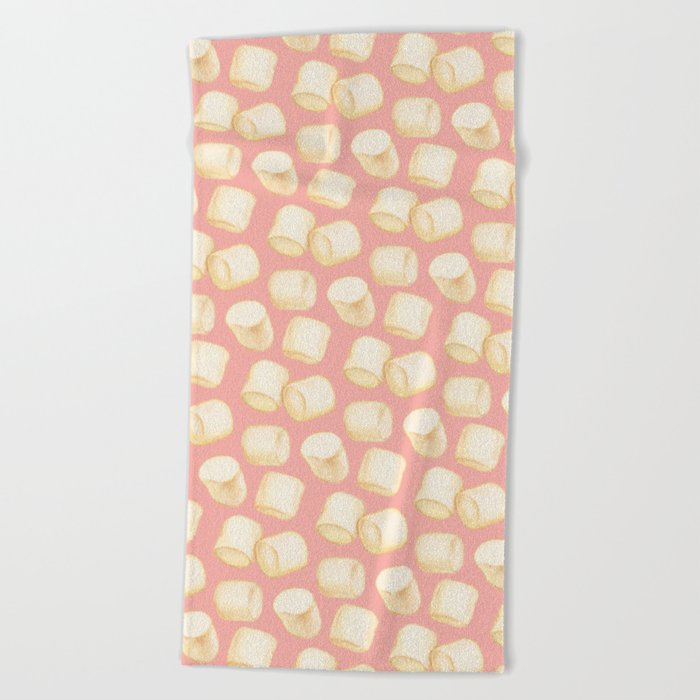 Marshmallow Pattern - Pink Beach Towel