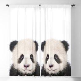 Baby Panda Bear Art Print by Zouzounio Art Blackout Curtain