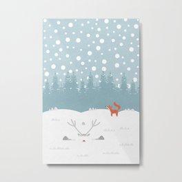 Deep Snow Metal Print