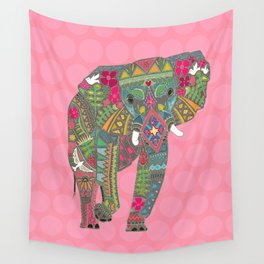 painted elephant pink spot Wall Tapestry