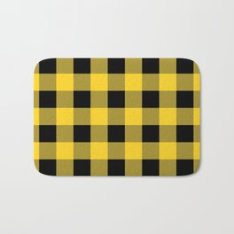 Yellow and Black Buffalo Check - more colors Bath Mat