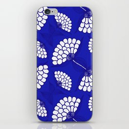 African Floral Motif on Royal Blue iPhone Skin