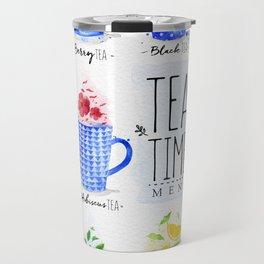 Poster tea menu Travel Mug