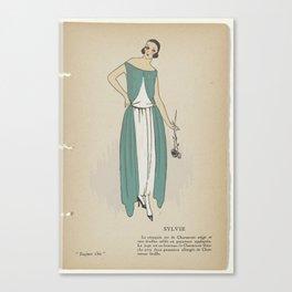 Always Chic Evenings Toilets, Winter 1921-1922 Sylvie, GP. Joumard, 1921 - 1922 Canvas Print