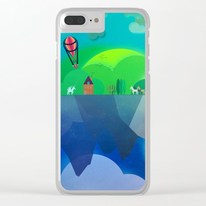 Floating Islands 2 Clear iPhone Case