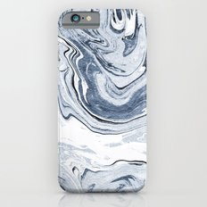 Kiyomi - spilled ink japanese monoprint marble paper marbling art print cell phone case with marble iPhone 6 Slim Case