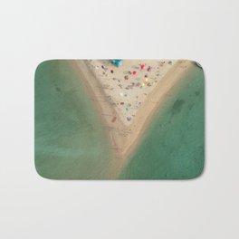 Aerial Koh Phangan Beach Thailnad Bath Mat
