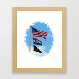 Iron County Flags Framed Art Print