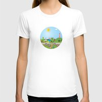 denmark T-shirts featuring Landscape of Denmark by Design4u Studio