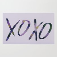 xoxo Area & Throw Rugs featuring XOXO by Leah Flores