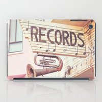 records iPad Cases featuring Records by JoyHey