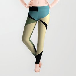 Two comets, one blue with a white tail, the other's white with a green tail. Leggings