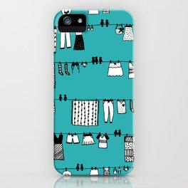 Laundry Doodle iPhone Case