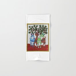 Gond painting - Deer Hand & Bath Towel