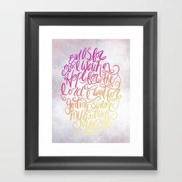 But as for me Framed Art Print