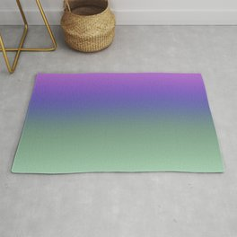 Lilac and Green Ombre Rug