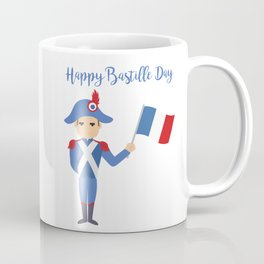 Soldier holding the French flag - Bastille Day Coffee Mug
