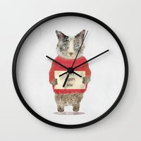 grumpy Wall Clocks featuring who's grumpy by bri.buckley
