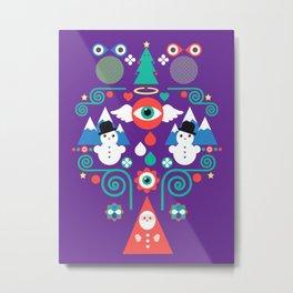 Christmas - purple pop Metal Print