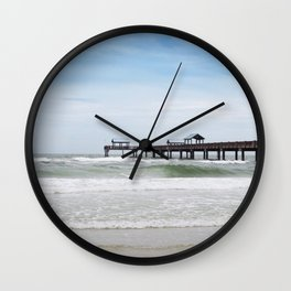 clearwater beach, fl Wall Clock