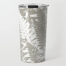 Gray Ferns Photo Art Print Pattern Travel Mug