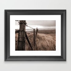 Worn fence Framed Art Print