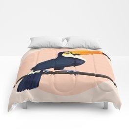 tropical toucan Comforters
