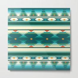 American Native Pattern No. 160 Metal Print