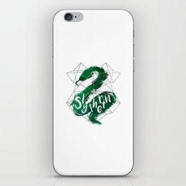 Slytherin Silver Splatter iPhone Skin