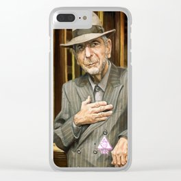 Leonard Cohen Clear iPhone Case