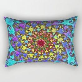 Spiral in BLues Rectangular Pillow