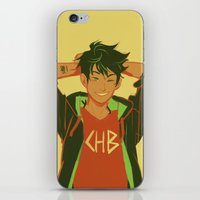 percy jackson iPhone & iPod Skins featuring percy by viria