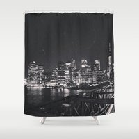 brooklyn Shower Curtains featuring Brooklyn  by Julia Ann
