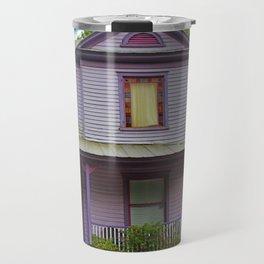 Quirky Purple House Travel Mug