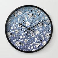 seinfeld Wall Clocks featuring Seinfeld Pattern by Jamie Leonard