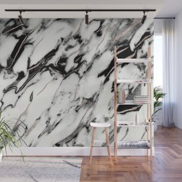 Classic White Marble Rose Gold Foil Glam #1 #marble #decor #art #society6 Wall Mural