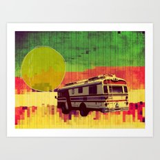 going west (ANALOG ZINE) Art Print
