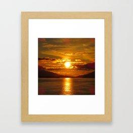 Alaskan Sunset Framed Art Print