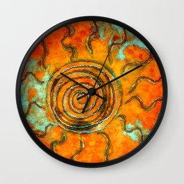 Southwest Sun Burst Wall Clock